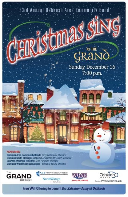 Oshkosh Area Community Band presents Christmas Sing